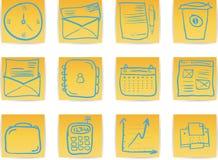 Trekt de Bedrijfshand van het bureau & pictogram vector illustratie