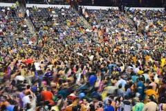 Trekt de Gujarati volkszanger Atul Purohit grote menigte in Chicago Royalty-vrije Stock Afbeeldingen