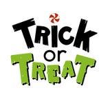 Trekt de van letters voorziende hand van Halloween vakantie stock illustratie