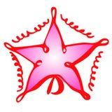 Trekt de vector geïsoleerde hand Kerstmisstuk speelgoed ster op een witte achtergrond vector illustratie