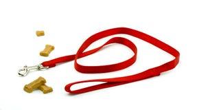 Trela e biscoitos do cão Foto de Stock Royalty Free