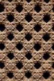 Treliça de pedra com teste padrão de flores Imagem de Stock Royalty Free