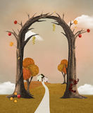 Treliça do outono Imagem de Stock