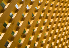 Trellis. Texture of wooden trellis in sunlight Royalty Free Stock Images