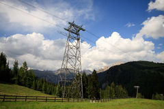 Trellis cable car in Val Gardena Royalty Free Stock Images