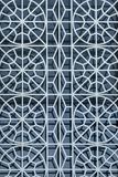 Trellis décoratif en métal pour la sécurité montée sur la fenêtre images libres de droits