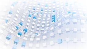 Trellis de ondulation des cubes 3d rendent illustration libre de droits