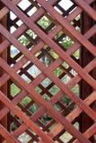 Trellis en bois brun de recouvrement Photos stock