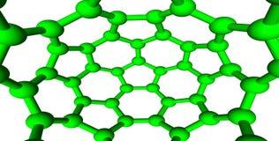 Trellis moléculaire vert sur le fond blanc Image libre de droits