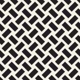 Trellis monochrome à la mode d'armure de sergé Conception géométrique abstraite de fond Dirigez la configuration sans joint illustration stock