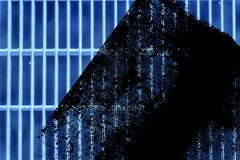 Trellis moulu en acier ultra bleu de grunge Texture d'acier inoxydable, fond pour le site Web ou périphériques mobiles Photographie stock