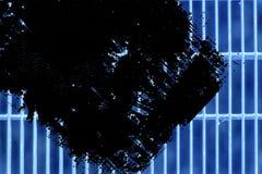 Trellis moulu en acier ultra bleu de grunge Texture d'acier inoxydable, fond pour le site Web ou périphériques mobiles Image libre de droits