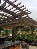 Garden trellis stock photography