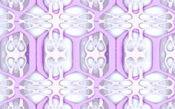 Trellis pattern. Pattern designed using 3D modeling methods and rendered. Represents a muscle and bone system of overlapping structures. Made and designed from Stock Images
