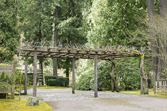 Trellis at Portland Japanese Garden Royalty Free Stock Photography