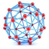 Trellis sphérique moléculaire sur un fond blanc Photo libre de droits