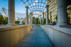 Trellis and walkway at Pack Square Park, in downtown Asheville, Stock Images