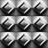 Trellised de ontwerp naadloze diamant patroon Stock Afbeeldingen