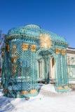 Gazebo van Trellised van Paleis Sanssouci. Potsdam, Duitsland. Royalty-vrije Stock Afbeelding