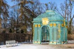 Trellisedpaviljoen in park van koninklijk paleis Sanssouci Stock Foto's