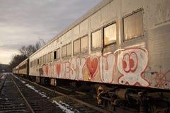 Trem abandonado em Wycombe, Bucks County, Pa EUA imagens de stock