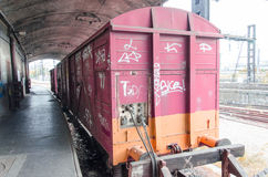 Trem abandonado velho Fotos de Stock Royalty Free