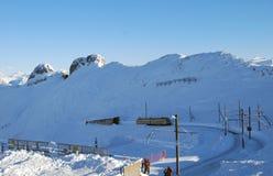 Trem acima nas montanhas Imagem de Stock Royalty Free