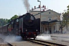 Trem alemão histórico 06-018 do vapor Fotografia de Stock