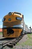 Trem amarelo Foto de Stock Royalty Free