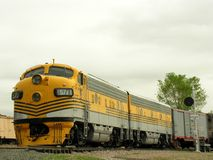 Trem amarelo #3. Foto de Stock Royalty Free