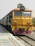 Trem amarelo Imagem de Stock Royalty Free