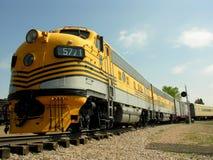 Trem amarelo Fotografia de Stock