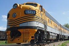 Trem amarelo Foto de Stock