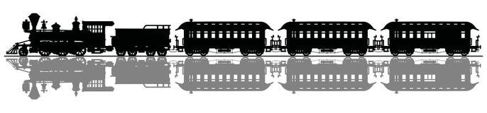Trem americano do vapor do vintage ilustração stock