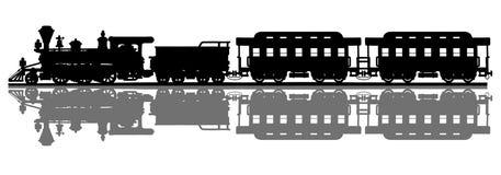Trem americano velho do vapor ilustração royalty free
