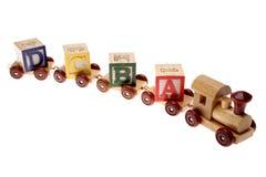 Trem & blocos da aprendizagem Fotografia de Stock Royalty Free