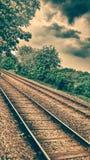 Trem ao futuro foto de stock