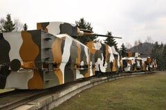 Trem blindado Hurban em Zvolen slovakia fotos de stock