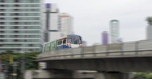 Trem borrado do movimento Foto de Stock
