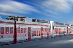 Trem branco Imagens de Stock Royalty Free