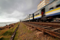 Trem cingalês, Colombo foto de stock royalty free