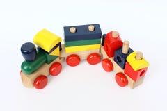 Trem colorido de madeira Fotos de Stock Royalty Free