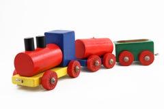 Trem colorido do brinquedo Fotografia de Stock Royalty Free