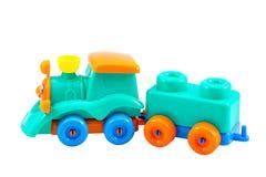 Trem colorido do brinquedo Fotos de Stock
