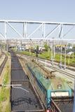 Trem com carvão Fotografia de Stock Royalty Free