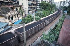 Trem com carvões fotografia de stock royalty free