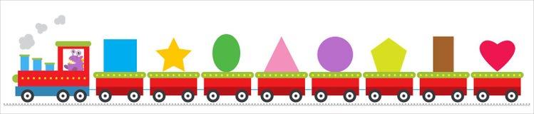 Trem com monstro bonitos ilustração do vetor