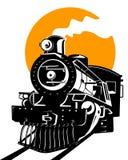 Trem com sol Fotografia de Stock