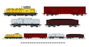 Trem da carga Fotografia de Stock