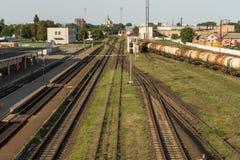 Trem da carga Estação de comboio britânica fotos de stock royalty free